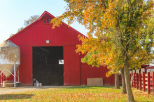 Image of large red barn