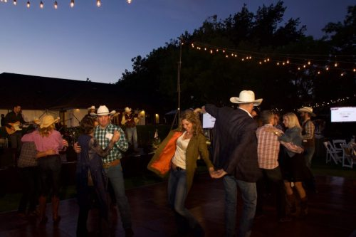 Guests dancing the night away to live music from Buck Ford.
